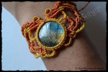 Bracelet dentelle labradorite spectrolite porte