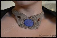 Collier lapis lazuli porte