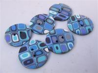 "Boutons ""Klimt Bleus"""