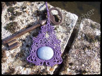Pendentif volupte quartz bleu