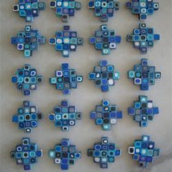 Boutons Klimt bleu