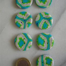 Boutons scrathy turquoise