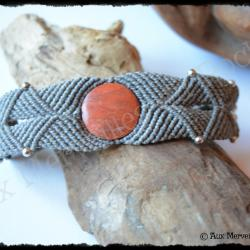Bracelet k-ré jaspe orange