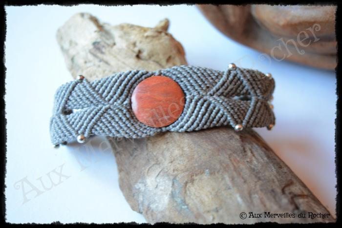 Bracelet k-ré jaspe orange