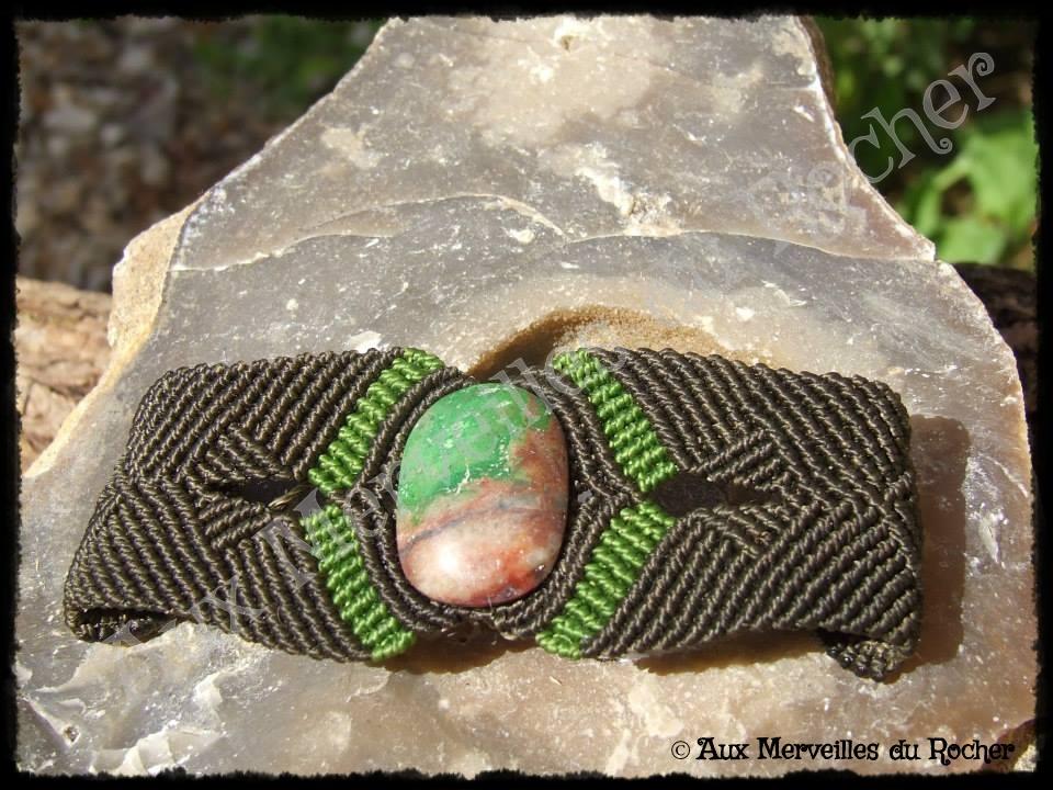 Bracelet k-rés chrysocolle aile de perroquet