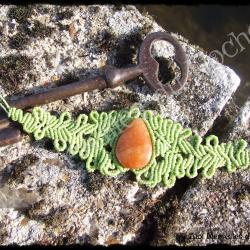 Bracelet volupté quartz pêche