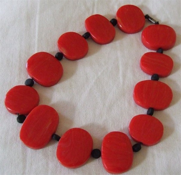 Collier Cécile rouge