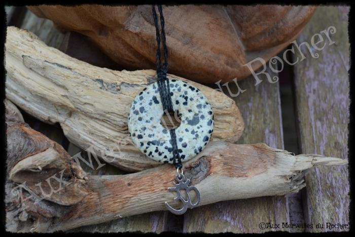 Pendentif donut jaspe léopard