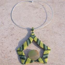 pendentif onyx vert