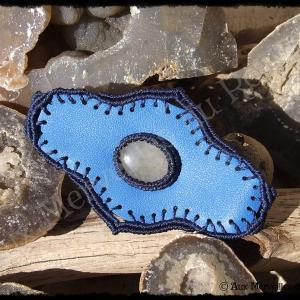 Bracelet cuir quartz rutile