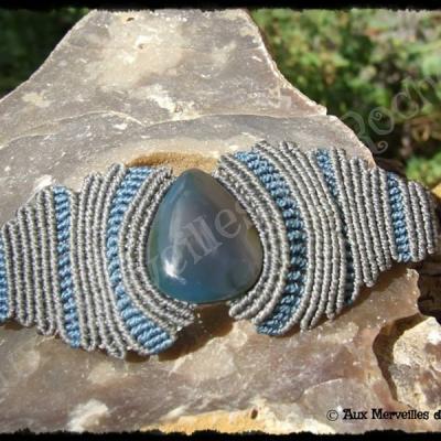 Bracelet vagues agate bleue