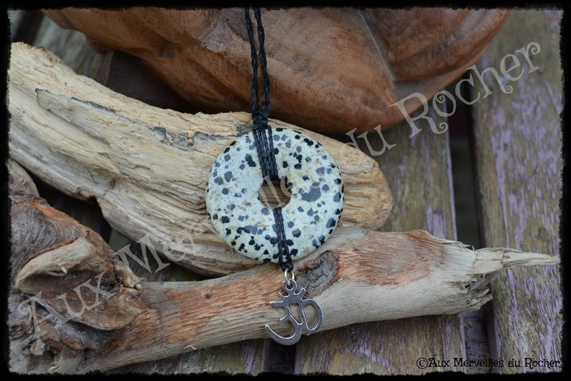 Pendentif donut jaspe leopard