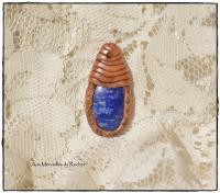 Pendentif polymère et Lapis-lazuli