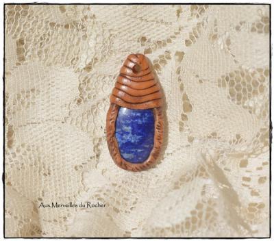 Pendentif polymere lapis lazuli