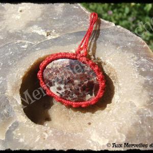 Pendentif simple jaspe rouge
