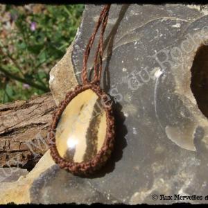 Pendentif simple jaspe