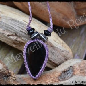 Pendentif simple obsidienne